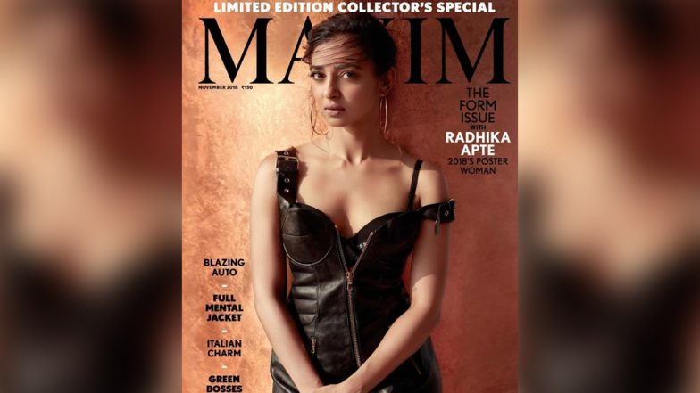 Radhika Apte Stuns in Black Faux Leather Outfit on the Cover of Maxim Magazine's November Issue, See Pic