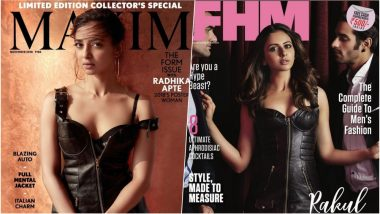 Radhika Apte Vs Rakul Preet Singh – Who Slayed Better in Black Moschino Leather Dress as a Cover Girl? (See Pics)