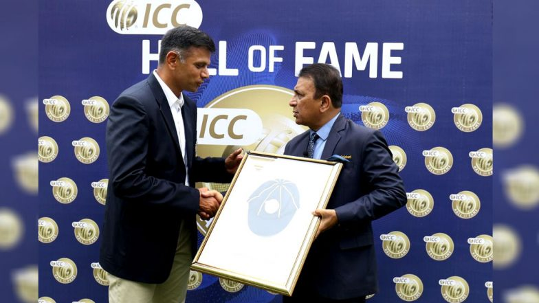 Rahul Dravid Becomes 5th Indian to Enter ICC Hall of Fame: Sunil Gavaskar Inducts 'The Wall' Ahead of IND vs WI 5th ODI (Watch Video)