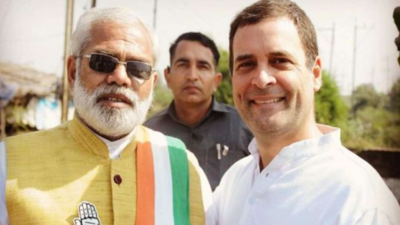 Rahul Gandhi Mocks PM Modi on Instagram by Posting Picture With Modi's Lookalike Abhinandan Pathak Before Upcoming Assembly Elections 2018