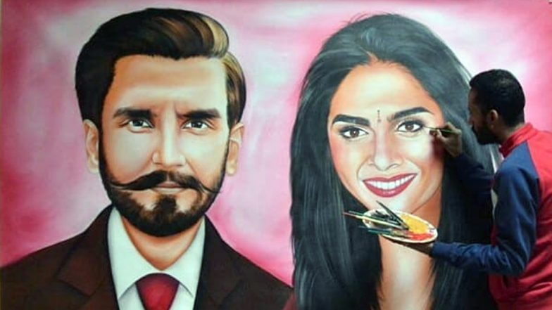 #DeepVeer Wedding Gifts! Ranveer Singh and Deepika Padukone Receive Life-Size Painting by an Artist from Amritsar, View Pics!