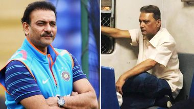 Ravi Shastri's Doppelganger Becomes A Butt of Jokes on Social Media: View Memes and Funny Picture Messages of The Head Indian Coach Travelling in Mumbai Local Train