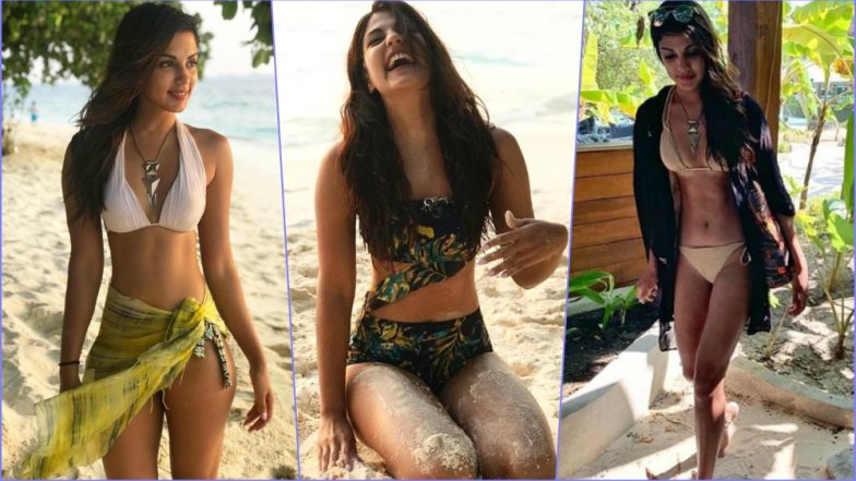 Rhea Chakraborty Flaunts Her Hot Beach Body in a Range of Bikinis During Maldives Break (See Pics)