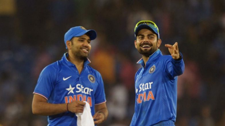 Rohit Sharma and Virat Kohli Have Stark Reactions to the Crowd Cheering Their Names During India vs West Indies 4th ODI (Watch Video)