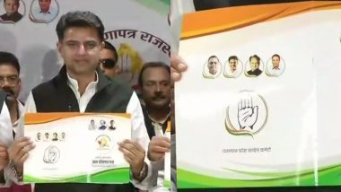 Rajasthan Assembly Elections 2018 Congress Manifesto: Loan Waiver, Free Education For Women and Jobs For Youth And More; 10 Promises Made by INC