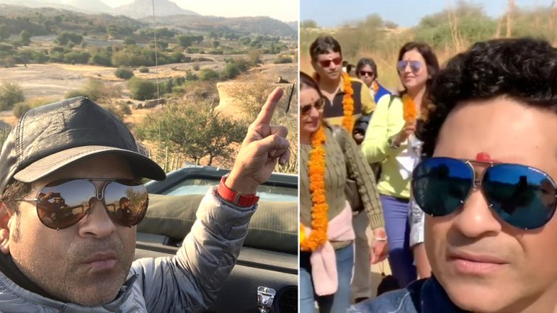 Sachin Tendulkar Posts Selfie With Leopard During Family Trip in Rajasthan: Watch Video and Pic!