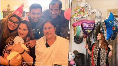 Sania Mirza Celebrates 32nd Birthday With Son Izhaan, Hubby Shoaib Malik, Parents and Sister (See Cute Photos)