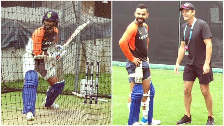 Shikhar Dhawan, Virat Kohli, Rishabh Pant, Jasprit Bumrah and Others Practice Hard at Nets Ahead of India vs Australia 1st T20I Match: Watch Videos and Pics!