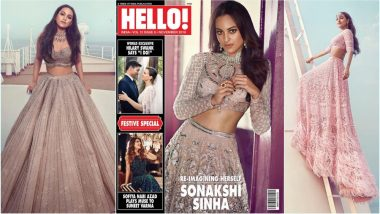Sonakshi Sinha in Hello Magazine Diwali 2018 Special: B-Town Actress Looks Ethereal in Pastel Bridal Lehengas (See Pics)