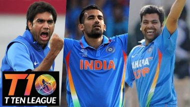 T10 League 2018 List of Indian Players: Zaheer Khan, RP Singh & Others in T10 Cricket League Team Squads