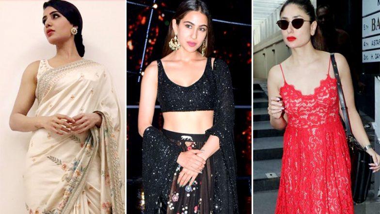 Sara Ali Khan, Kareena Kapoor Khan and Samantha Ruth Prabhu's Fashion Picks Deserve Your Attention Rightaway - View Pics