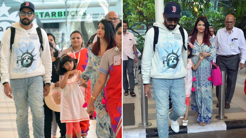 Abhishek, Aishwarya and Aaradhya Return From Their Goa Vacation Just in Time for the Thugs of Hindostan Premiere – View Pics