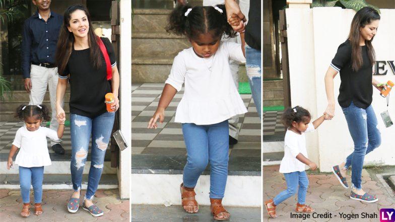 Sunny Leone's Cute Daughter Nisha Is Bored Of Paparaazi Attention? View Pics!