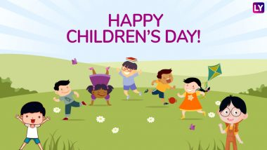 Happy Children's Day 2018 Messages: WhatsApp Messages & Stickers, GIF Images, SMS & Facebook Cover Photos to Wish Kids on 14th November