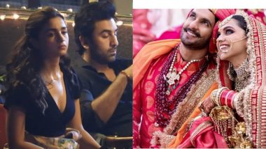 This Meme Suggests Alia Bhatt Looks Grumpy Sitting Next to Ranbir Kapoor in This Pic Because He's Staring at Deepika Padukone - Ranveer Singh's Dreamy Wedding Photos
