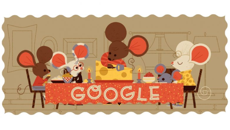 Thanksgiving 2018 Google Doodle Captures the True Essence of Holidays, Family Gatherings and Feasting