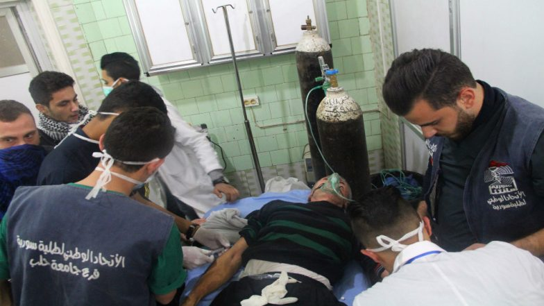 Toxic Gas Attack in Syria's Aleppo, Over 100 Hospitalized