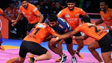 U Mumba vs U.P. Yoddha, PKL 2018–19, Eliminator 1 Match Live Streaming and Telecast Details: When and Where to Watch Pro Kabaddi League Season 6 Match Online on Hotstar and TV?