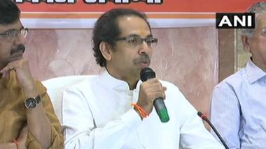 Shiv Sena Chief Uddhav Thackeray Dares BJP Govt on Ram Mandir, Questions if 'Ram Temple Is Also a Jumla?'