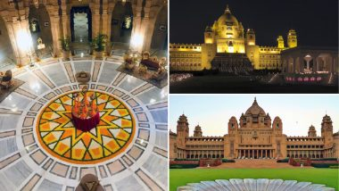 Priyanka Chopra and Nick Jonas Wedding Venue Umaid Bhawan Palace: Know All About The Royal Palace in Jodhpur, View Stunning Inside Pics!