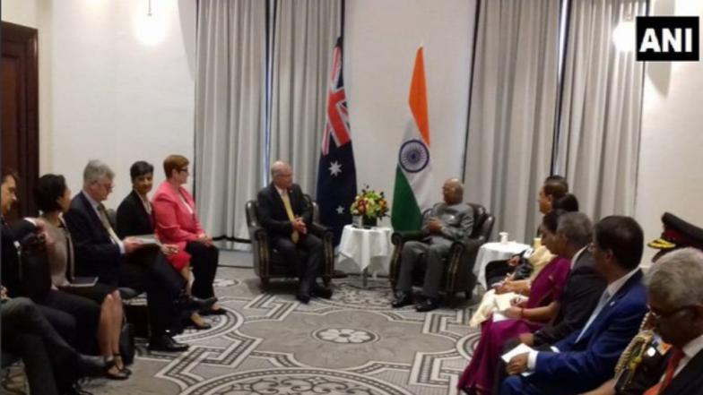 India, Australia Ink 5 Pacts as President Ram Nath Kovind Meets PM Scott Morrison