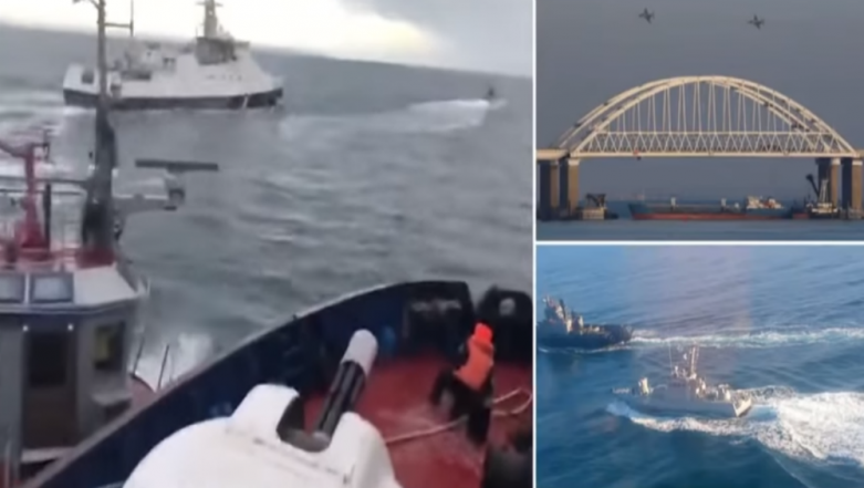 Ukraine Accuses Russia of Firing on Its Naval Ships Near Kerch Strait