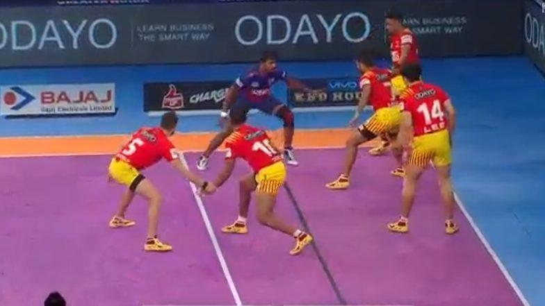 PKL 2018 Video Highlights: Gujarat Fortunegiants Defeat Dabang Delhi 45-38