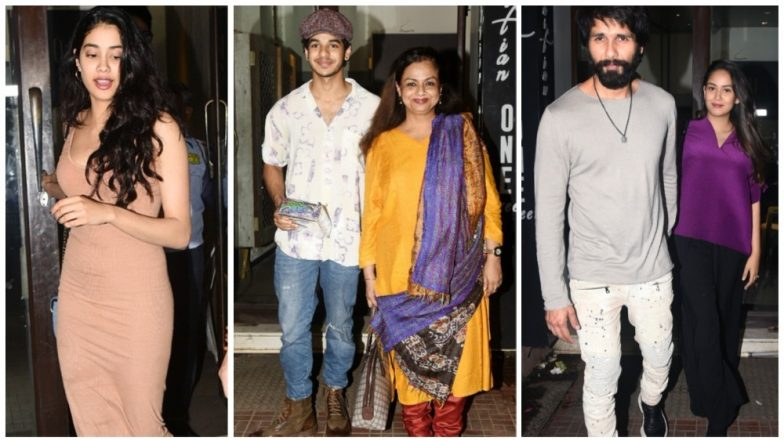 Janhvi Kapoor Joins Ishaan Khatter's Intimate Birthday Bash With Shahid Kapoor and Family – Watch Video