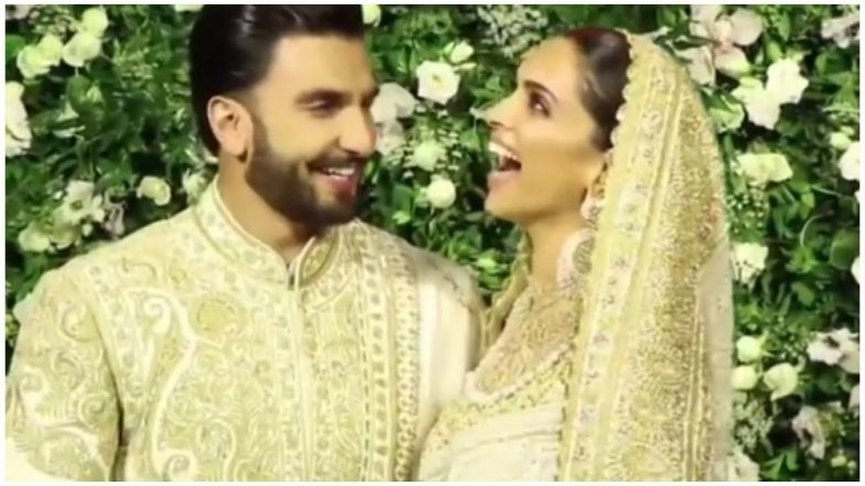 Deepika Padukone and Ranveer Singh Couldn't Stop Blushing When The Media Addressed Her as 'Bhabhiji' - Watch Video