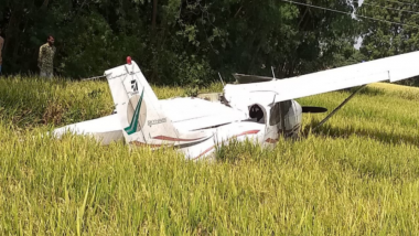 Telangana: Trainer Aircraft Crashes in Agriculture Field Near Hyderabad, Pilot Injured