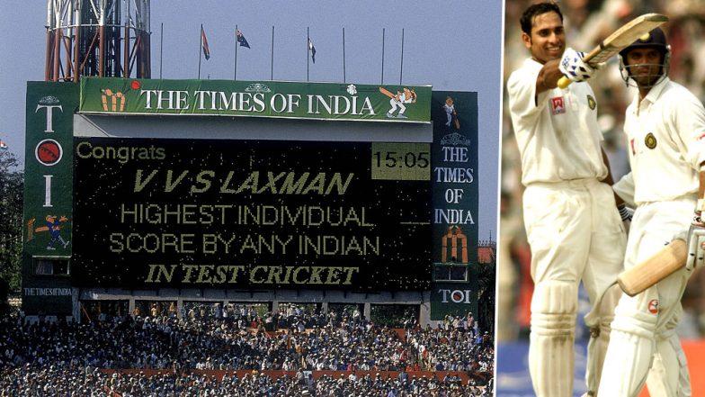 VVS Laxman 44th Birthday: A Lookback at Very Very Special 281-Run Innings by the Stylish Hyderabadi Batsman vs Australia (Watch Video)