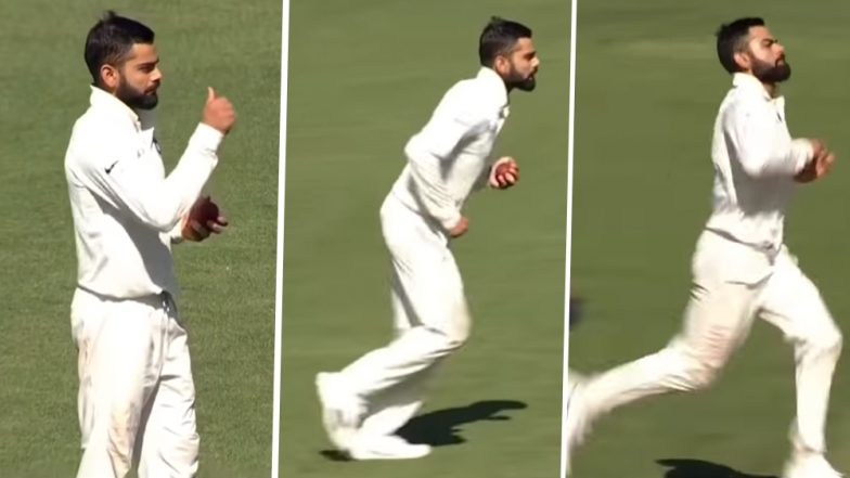 Virat Kohli Bowling Video: Watch Indian Captain Bowl a Couple of Overs During India vs Cricket Australia XI Practice Match at Adelaide