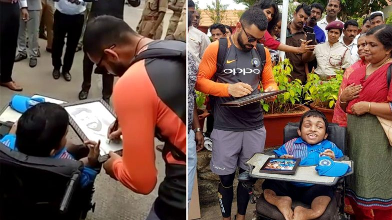 Virat Kohli Meeting a Specially-Abled Fan And Gifting Him a Signed Photograph Will Melt Your Heart! (Watch Video)