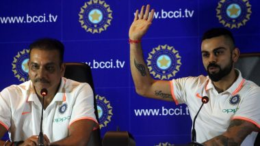 Virat Kohli, Ravi Shastri Press Conference Video Ahead of India's Tour To Australia 2018-19: Calm and Composed Duo Lay Emphasis on 'Seizing' Important Moments Down Under!