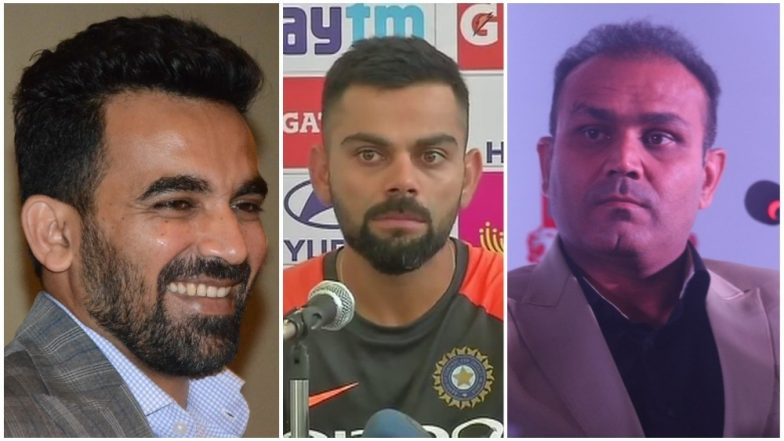 Virat Kohli 'Leave India' Comment Row: Former Cricketers Zaheer Khan and Virender Sehwag Come in the Defence of Indian Skipper!
