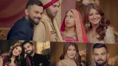 Virat Kohli and Anushka Sharma Release New Manyavar Mohey TVC Ahead of Their First Wedding Anniversary (Watch Video)