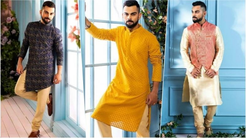 Birthday Boy Virat Kohli is Every Indian Man's Fashion Inspiration This Diwali 2018: See Pics of Indian Cricketer in Traditional Outfits!