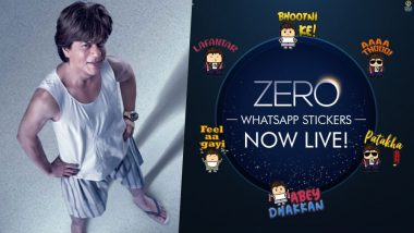 Shah Rukh Khan in Zero Movie WhatsApp Stickers Free Download: SRK's Zero Becomes First Indian Film to Launch the WhatsApp Sticker Pack