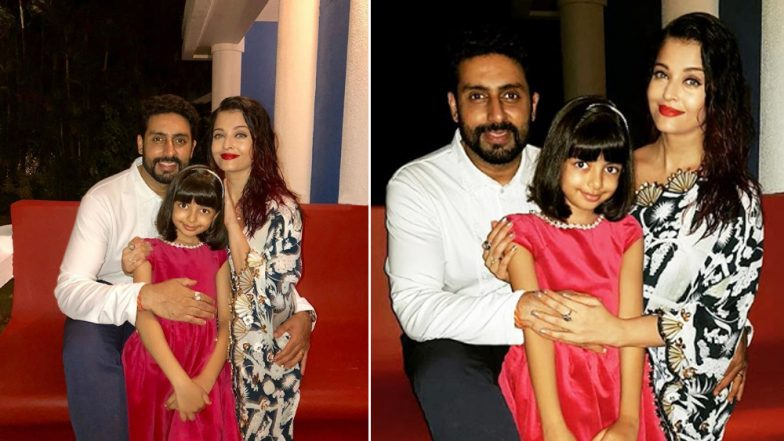 Aishwarya Rai Bachchan Poses for a Perfect Family Picture With Hubby Abhishek Bachchan and Daughter Aaradhya