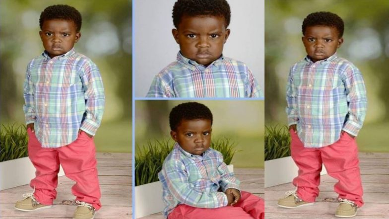 Little Boy's Angry School Photo Goes Viral; Mom Says Pictures Were Used Without Permission
