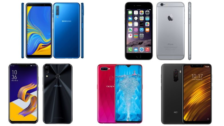Diwali 2018 Best Smartphones Under Rs. 25,000 in India: Asus Zenfone 5z, Poco F1, Oppo F9 Pro, Apple iPhone 6S, & Samsung Galaxy A7