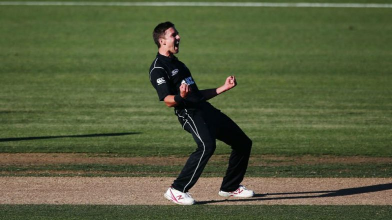 Trent Boult Hattrick Video: Left-Arm Pacer Becomes 3rd New Zealand Bowler to Take a Hattrick in ODIs