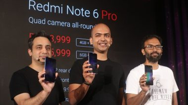 Xiaomi Redmi Note 6 Pro Smartphone Launched in India at Rs 13,999; To Go on Sale Tomorrow via Flipkart at Rs 12,999