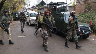 Jammu & Kashmir: 3 Terrorists Killed in Encounter With Security Forces in Shopian, Arms and Ammunition Seized