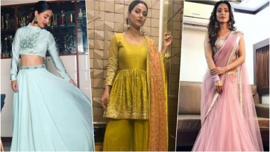 Hina Khan as Diwali 2018 Outfit Inspiration: Let This Stylish TV Diva Show You How to Ace Ethnic Wear with Elegance This Festival