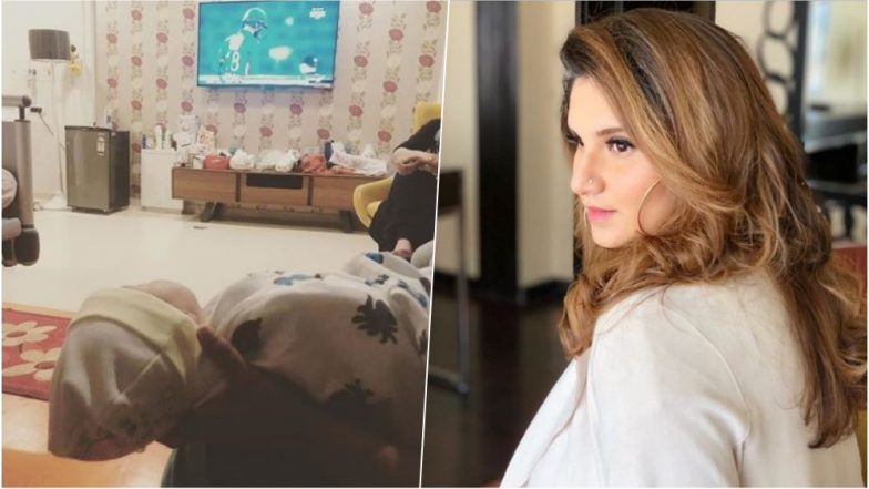 Sania Mirza Shares First Pic of Son Izhaan Watching Shoaib Malik Play Cricket Along with a Heartfelt Message!