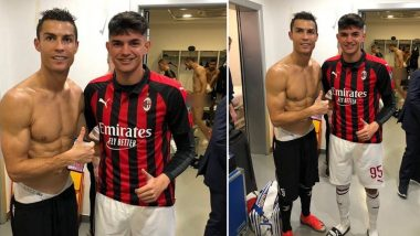 Cristiano Ronaldo's Picture in the Locker Room Photobombed by a Naked Juventus Teammate Giorgio Chiellini