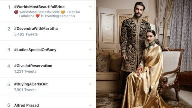 #WorldsMostBeautifulBride: Fans Make Deepika Padukone's Bridal Look a Top Twitter Trend