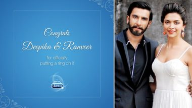 Deepika Padukone & Ranveer Singh Get Married! Durex Condom Congratulates Couple in This Witty Social Media Ad