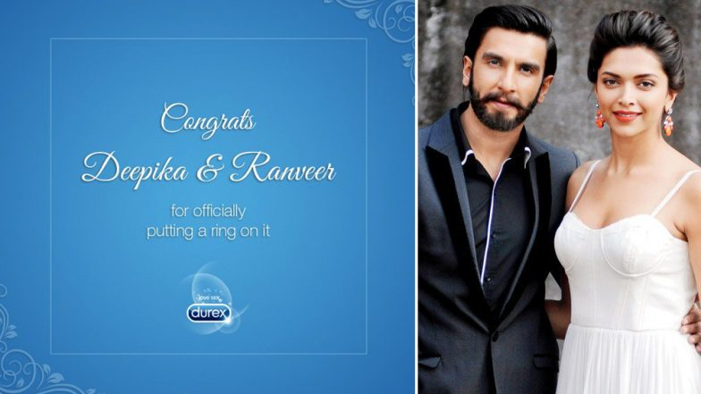 Deepika Padukone & Ranveer Singh Get Married! Durex Condoms Congratulates Couple in This Witty Social Media Ad